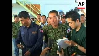 Japanese military complete relief operation in Aceh