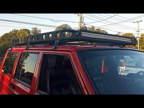 jeep xj cherokee roof rack build part 2 of 2