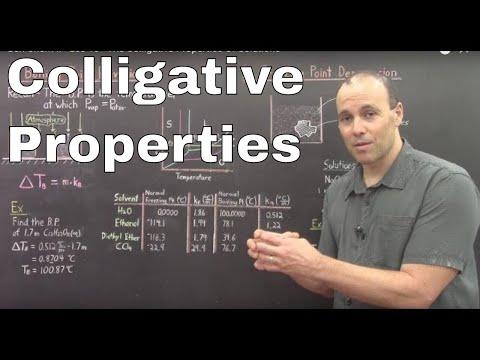 Gen Chem II - Lec 10 - The Colligative Properties Of Solutions