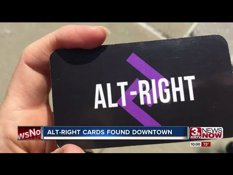 Alt-right group spreads swastika laden cards downtown