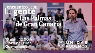 Encuentro de Pablo Iglesias con la gente en Las Palmas de Gran Canaria
