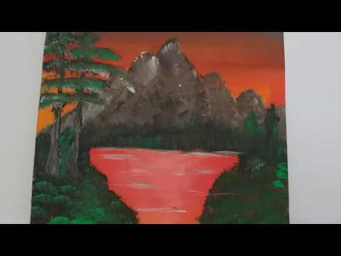 Amazing Nature Painting/Landscape mountain/Acrylic Painting with Gumvis art