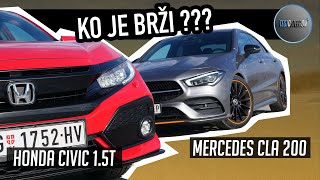 Merc CLA 200 vs Honda CIVIC 1.5T | DRAG RACE