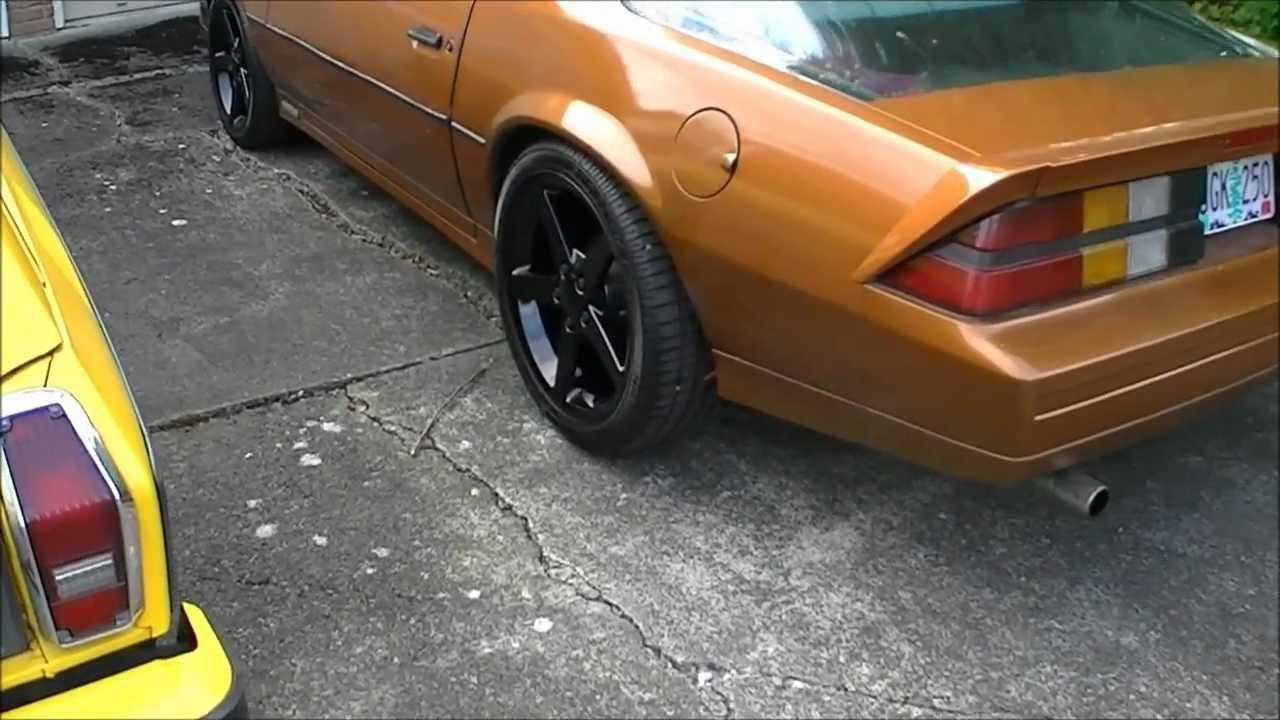 84 Camaro With C6 Wheels Youtube