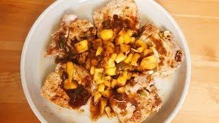 慢煮豬扒配菠蘿辣椒汁 | Sous Vide Pork Chop with Pineapple Jalapeno Sauce