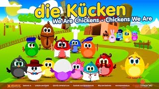 Die Kücken - We Are Chickens in German | Mi smo Pilici na nemackom | Top Kids Song in German