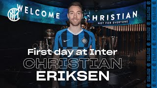 CHRISTIAN ERIKSEN'S FIRST DAY AT INTER! | #WelcomeChristian 🇩🇰⚫🔵 [SUB ITA]