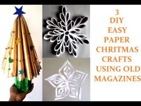 How To Make Easy Christmas Decorations Using Old Magazines