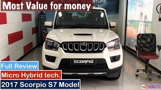 2017 Mahindra Scorpio S7 Model Interior,Exterior and Features Review
