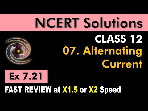 Class 12 Physics NCERT Solutions | Ex 7.21 Chapter 7 | Alternating Current by Ashish Arora