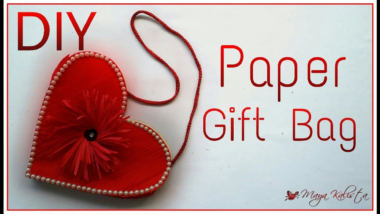Diy Project Easy Handmade Paper Gift Bag Making Tutorial Heart
