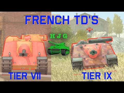 World of Tanks BLITZ - They're Here!! - French TD's - Tier VII and IX
