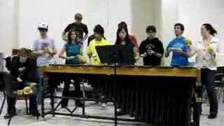 """Tropical Feel"" - WLU Percussion Masterclass Style!"