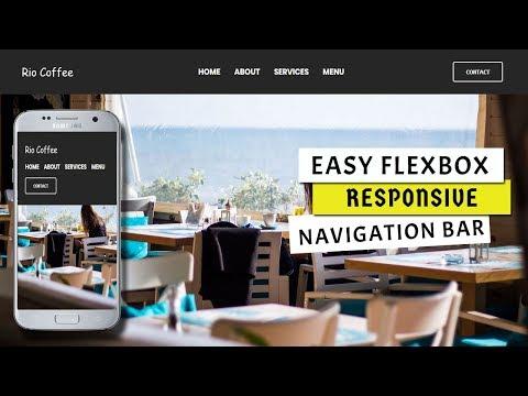 Easy Responsive navigation bar using flexbox