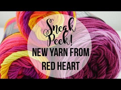 Sneak Peek!  New Yarn From Red Heart, Episode 419