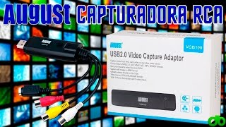 August VGB100 Capturadora Video RCA y SuperVideo Unboxing, Review y Tutorial