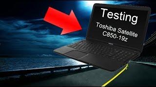 Toshiba C850-19Z Benchmarking