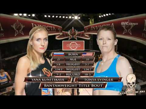 Yana kunitskaya vs Tonya eveinger Invicta FC 20 Title Fight