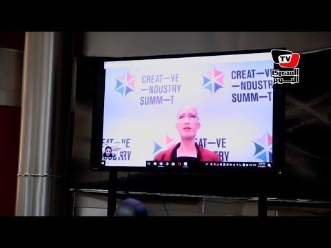 المصري اليوم:الروبوت «صوفيا».. تحضر الاجتماع التحريري بالمصري اليوم