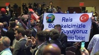 Erdogan's bodyguards attack US protester for disrupting NYC speech