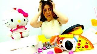 Академия Волшебства ✨ Хелло Китти устроилась на работу в кафе! Видео для детей