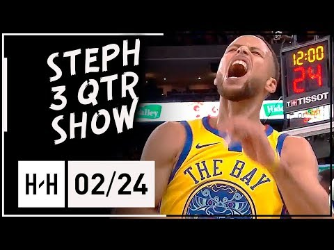 Stephen Curry Full Highlights Warriors vs Thunder (2018.02.24) - 21 Pts, 9 Reb, 6 Ast in 3 Qtrs!