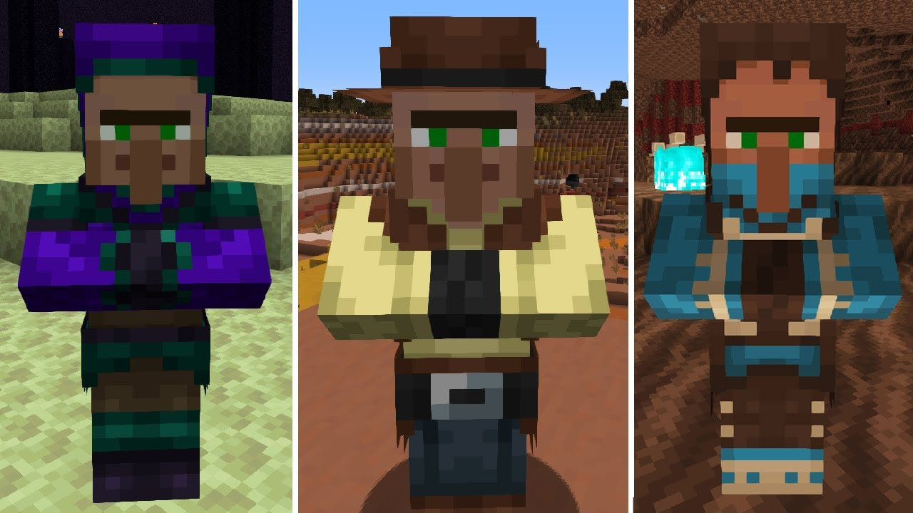This Minecraft Resource Pack Adds EXTRA VILLAGERS