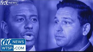 Florida's governor race results stand, with DeSantis in the lead, while other races go to recount