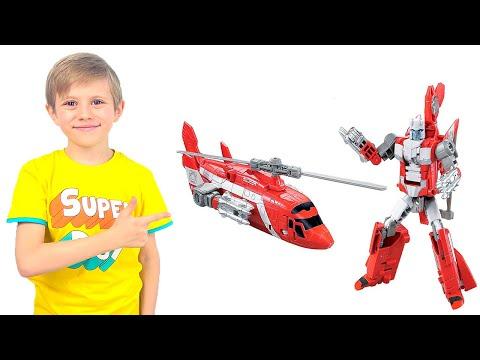 Трансформер СПАСЕТЕЛЬНЫЙ ВЕРТОЛЁТ  T-Warrior - Даник и  игрушки для мальчиков