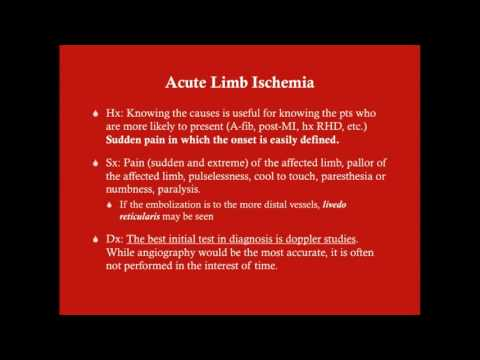 Acute Limb Ischemia - CRASH! Medical Review Series