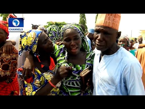 Diplomatic Channel: Tearful Reunion As 82 Freed Chibok Girls Meet Parents After 3 Years