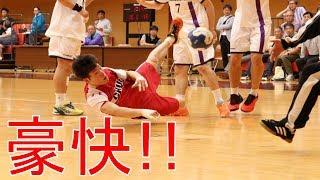 【ハンドボール】豪快!!倒れ込みシュート!!ゴールへの執念を感じさせるプレー集【衝撃】