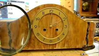 Wide Pendulum Mantel Clock