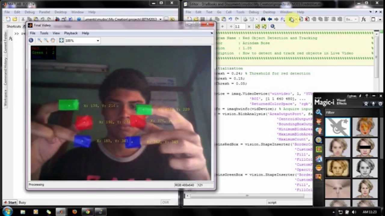 How to Detect and Track Red, Green and Blue Colored Object in LIVE