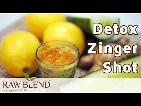 How to Make a Smoothie (Detox Zinger Shot Recipe) in a Vitamix 5200 Blender by Raw Blend