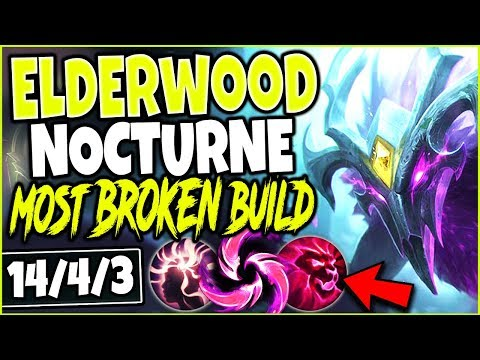 NEW ELDERWOOD NOCTURNE SKIN! MOST BROKEN NOCTURNE SEASON 9 BUILD! NEW Noc Skin PBE League of Legends