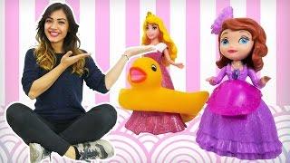 Ariel, prenses Sofia, Aurora ve Rapunzel oyuncak kreşimizde