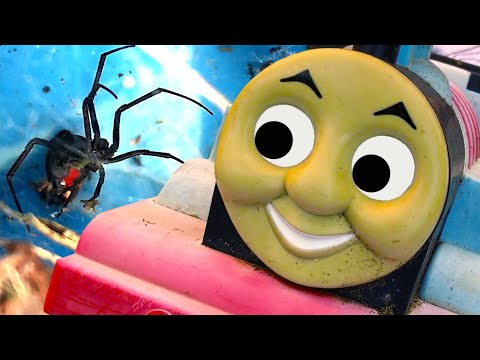 Trash & Treasure Hunting Thomas The Tank Spider Nest & MEGA Summer Fires