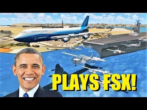 President OBAMA Plays Flight Simulator X! (Multiplayer Encounter)