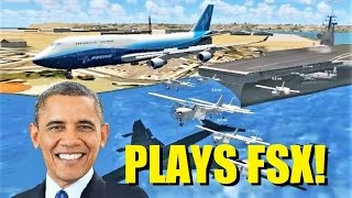 President OBAMA Plays Flight Simulator X! (Multiplayer Encounter)