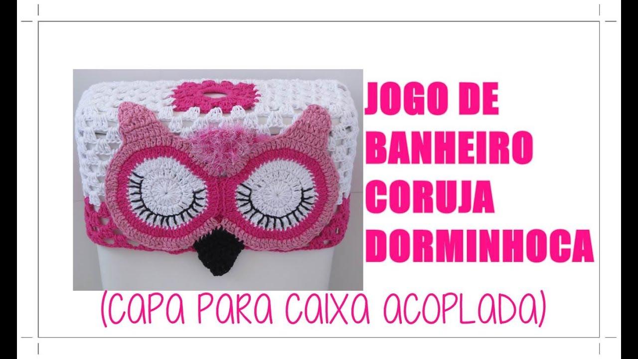 JOGO DE BANHEIRO CORUJA DORMINHOCA  CAPA PARA CAIXA ACOPLADA   #BD0E67 1380x820 Banheiro Acessível Com Caixa Acoplada