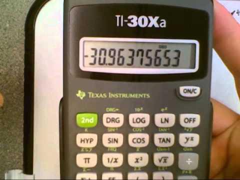 Calculator Ti 30xa Part 1