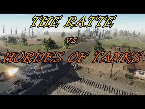 Men of War Assualt Squad 2  - Landkreuzer P1000 Ratte vs Hordes of Tanks - Shermans, MAUS |