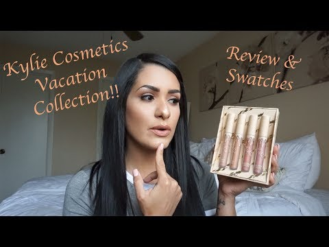 Kylie Cosmetics New Vacation Collection Velvet Liquid Lipsticks Review and Swatches!!!!!!
