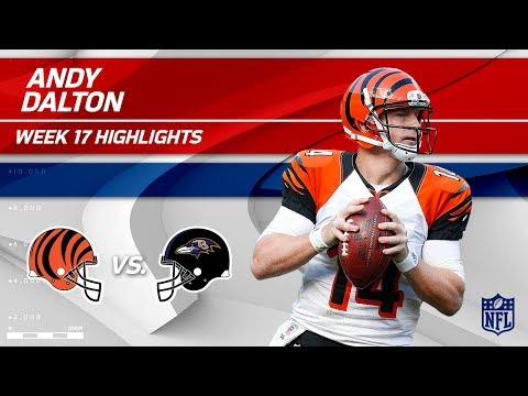 Andy Dalton Highlights | Bengals vs. Ravens | Wk 17 Player Highlights