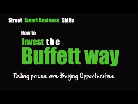 Invest the Buffett Way-Falling prices are Buying opportunities
