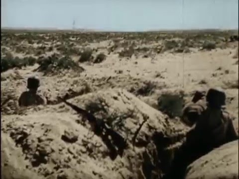 Operation Crusader rare film scenes in Color, Africa Corps