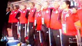 Germany vs Serbia national anthems