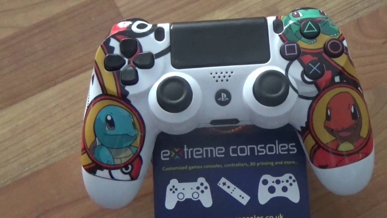 Go Pokemon Go    custom PS4 controller by Extreme Consoles