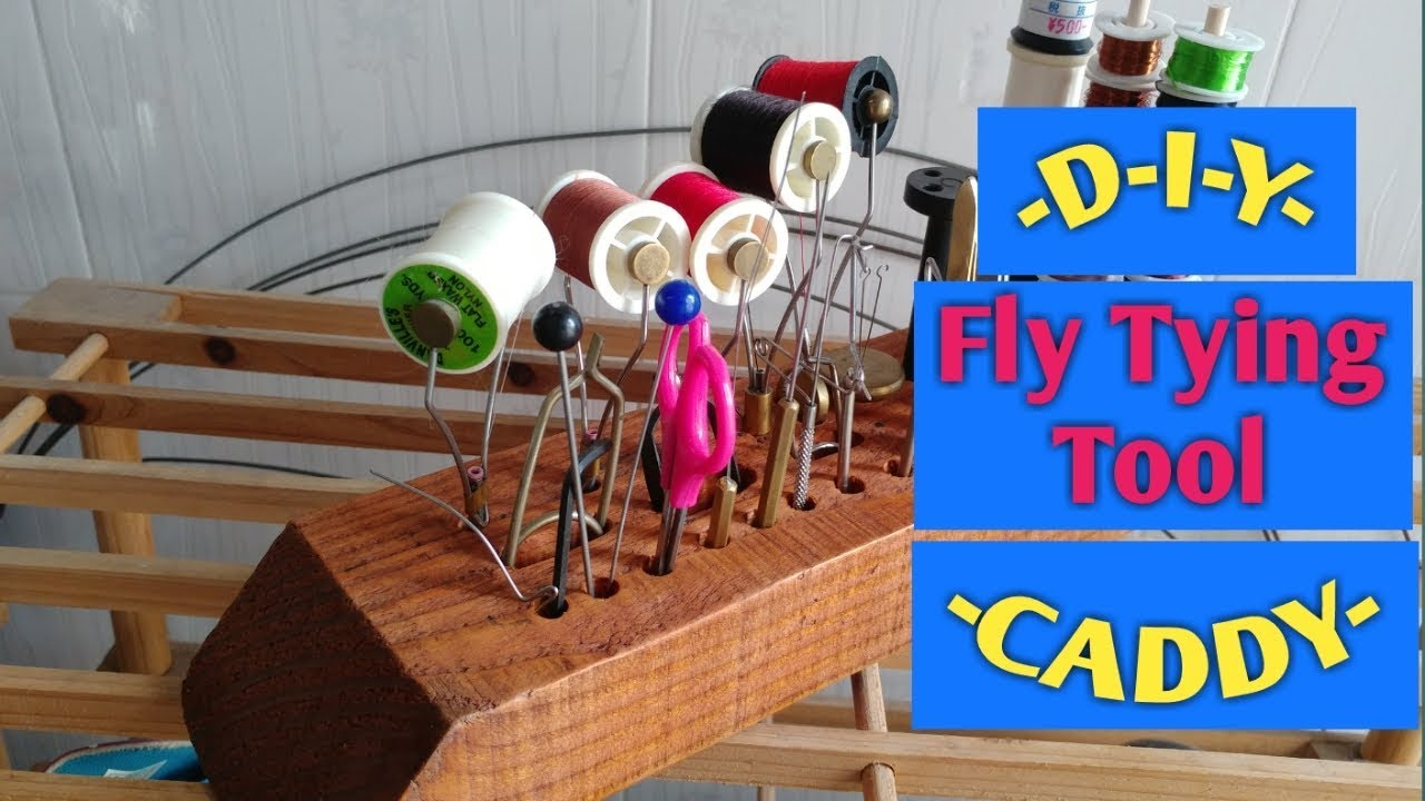 how to make a fly tying station tool caddy from wood (diy)